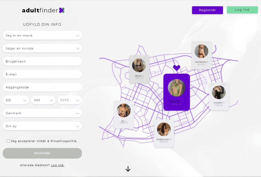 Adultfinderx screenshot