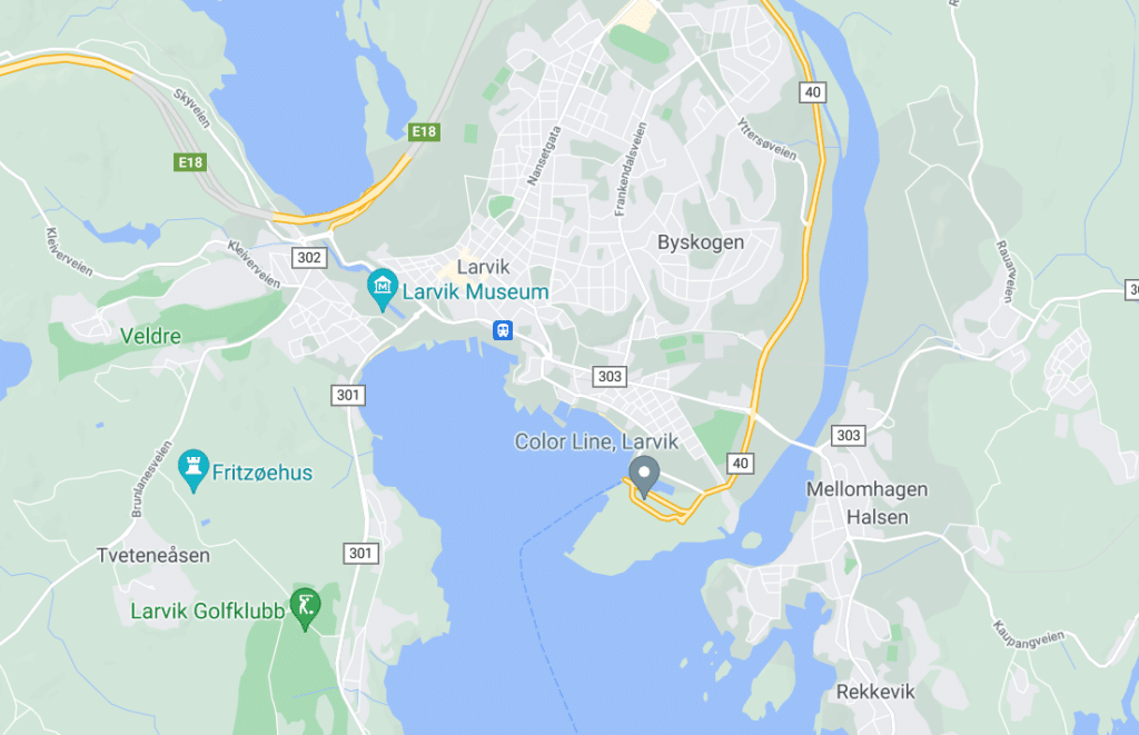 Larvik kart